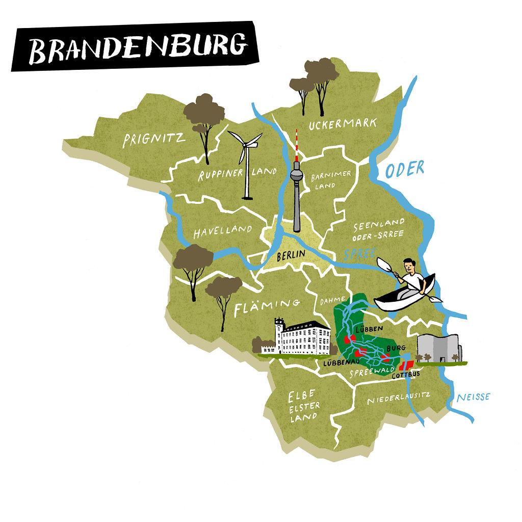 Karte Brandenburg