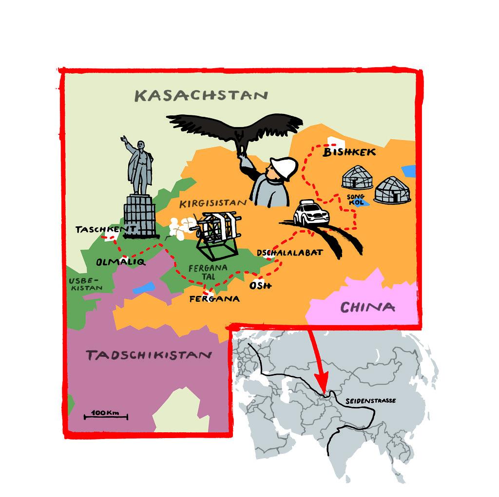 Karte Seidenstrasse