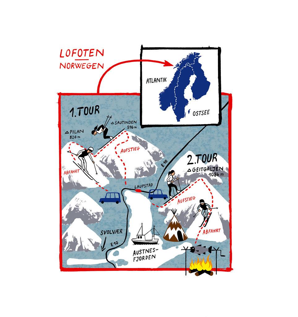 Karte Lofoten