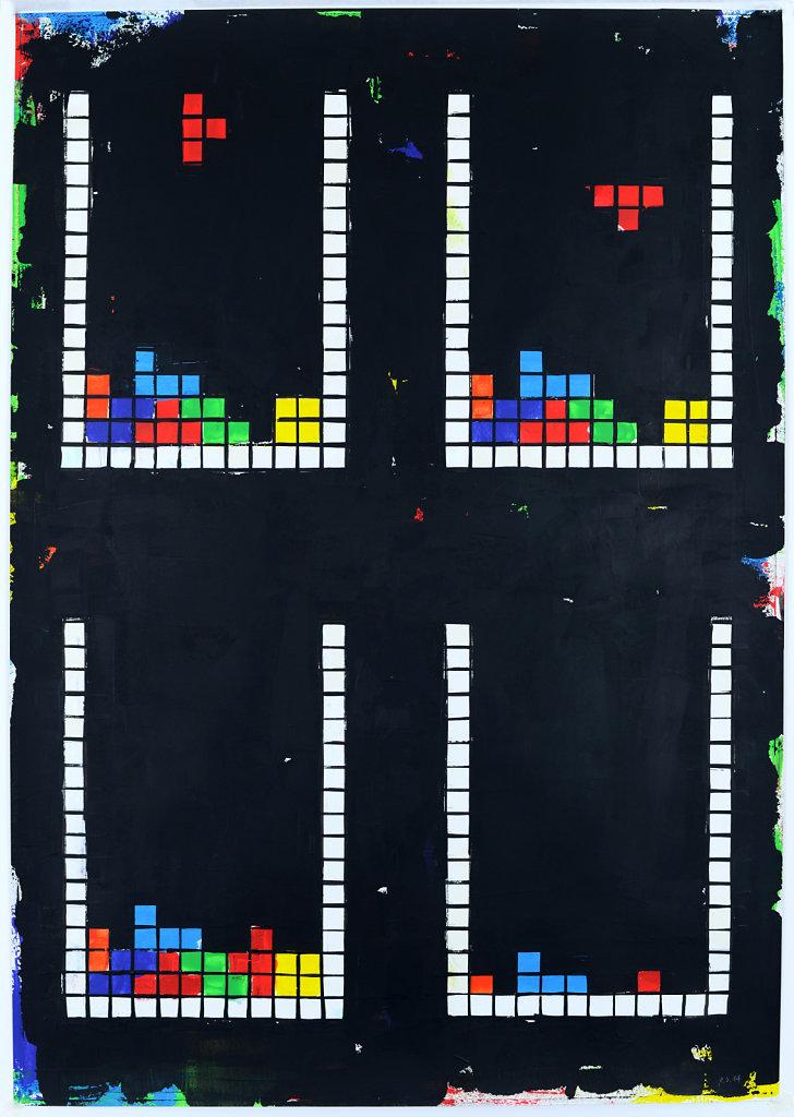 4 mal Tetris